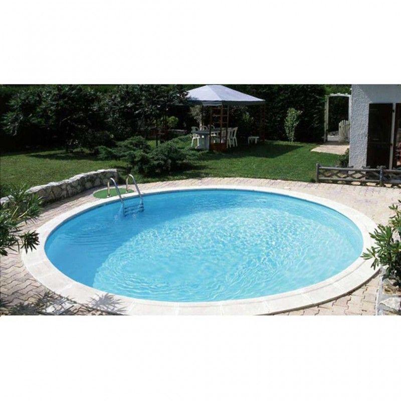 Inbouwzwembad rond set clever pool 150 cm diep for Inbouw zwembad compleet