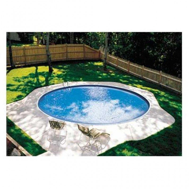 Inbouwzwembad rond tender pool 120 cm diep for Stalen zwembad inbouwen