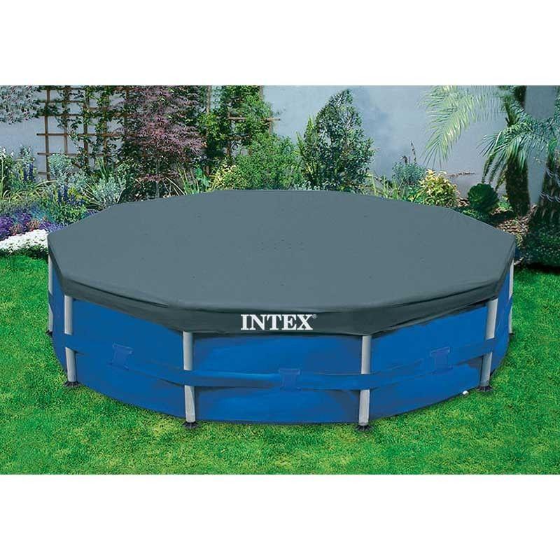 intex frame pool cover 366 cm zwembad afdekzeil. Black Bedroom Furniture Sets. Home Design Ideas