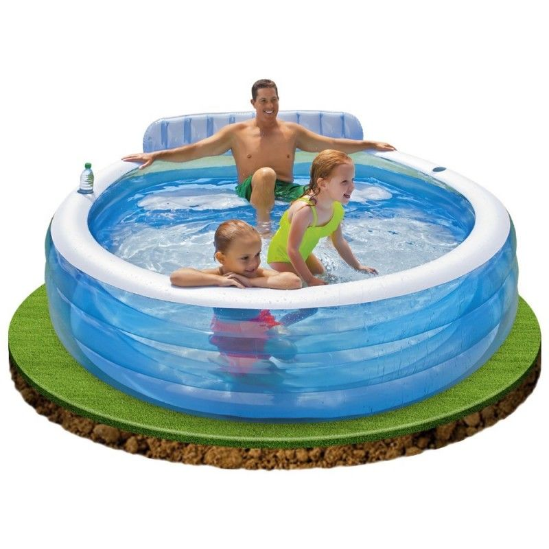 Intex Swim Center Family Lounge Pool 224 X 216 X 76 Cm Zwembad