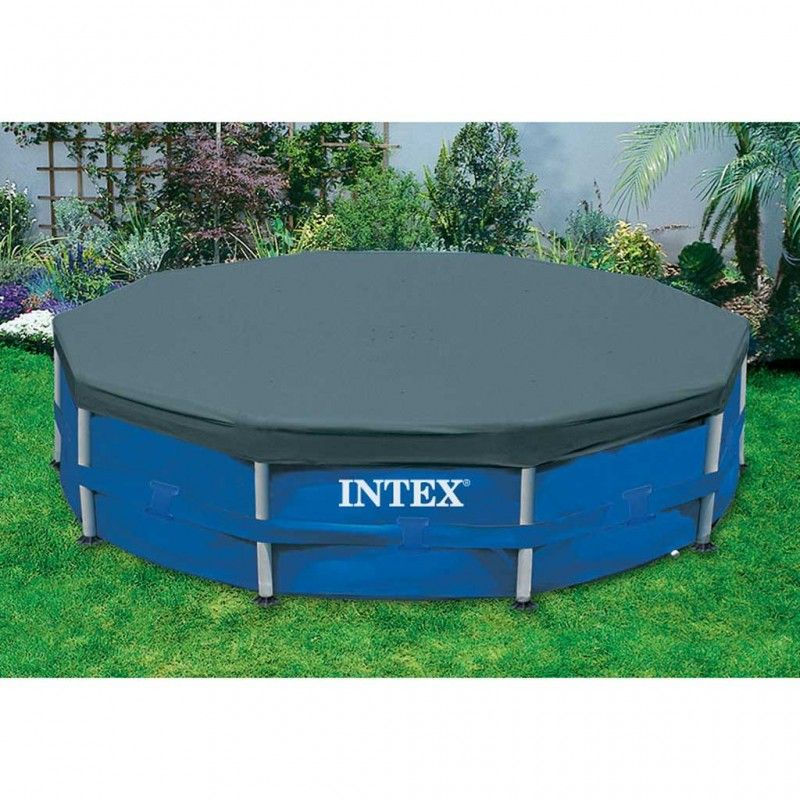 Intex pool cover 457 cm zwembad afdekzeil for Intex mini frame pool afdekzeil