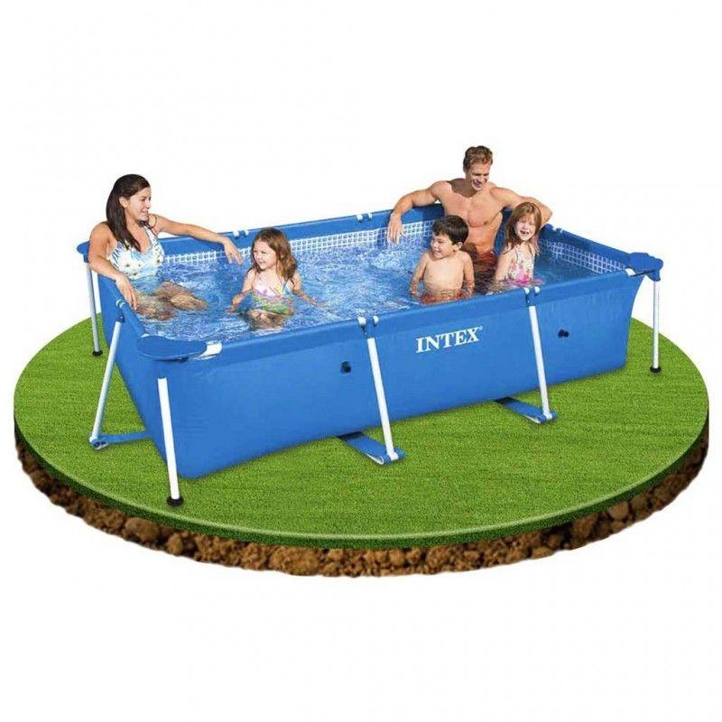Intex metal frame zwembad 260x160x65cm for Intex zwembad verkooppunten