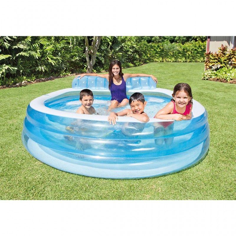intex swim center family lounge pool 224 x 216 x 76 cm zwembad. Black Bedroom Furniture Sets. Home Design Ideas