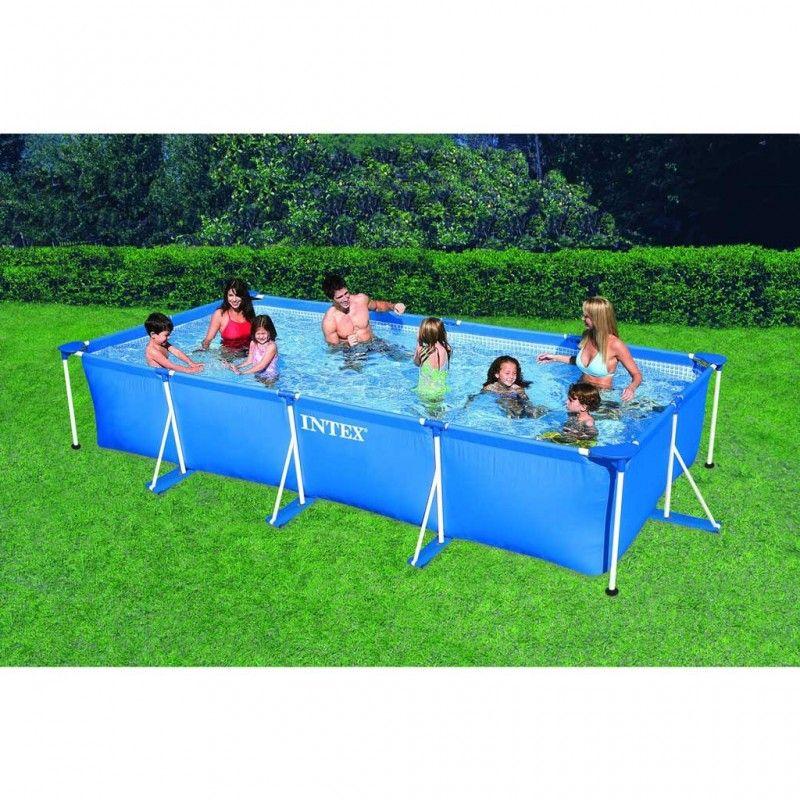 Intex metal frame pool 450 x 220 x 84 zwembad for Intex zwembad verkooppunten