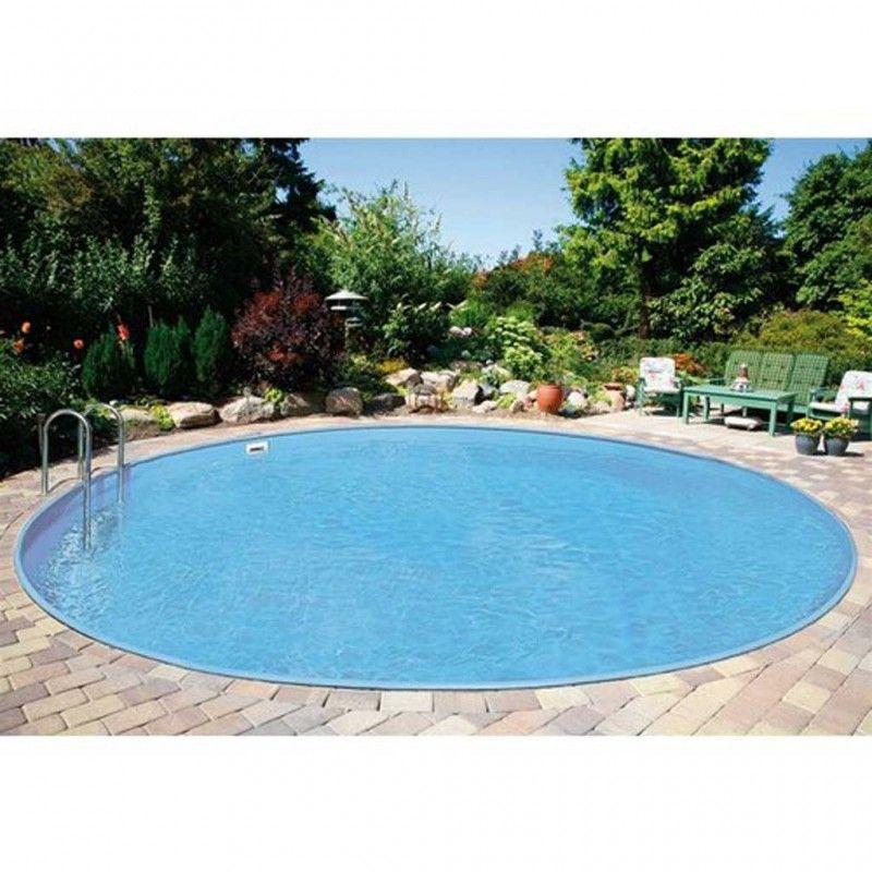 inbouwzwembad rond set 300 x 120