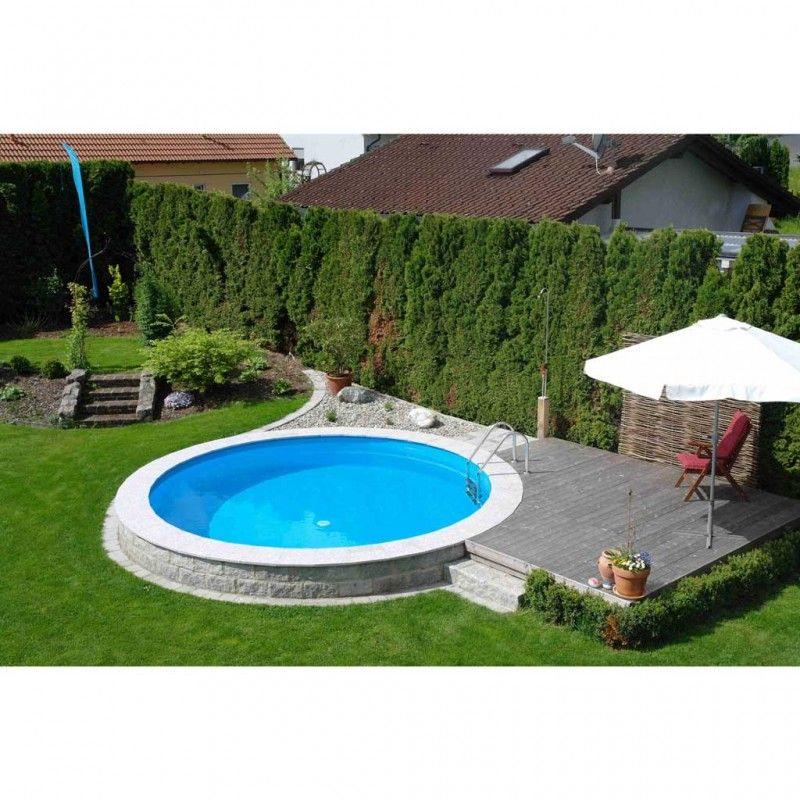 Inbouwzwembad rond set 300 x 120 for Inbouw zwembad compleet
