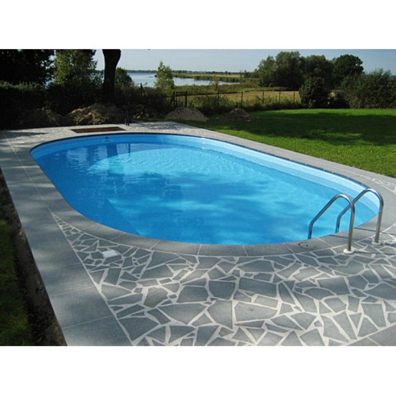 inbouwzwembad ovaal 490 x 300 x 150 cm