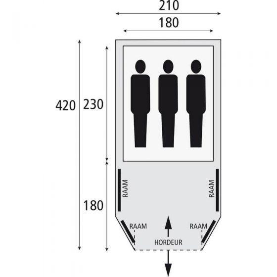 Bardani Airwave 210 opblaasbare tent kopen? STASSAR.nl