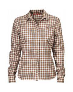 Stina Flannel Shirt W - 372 Rust